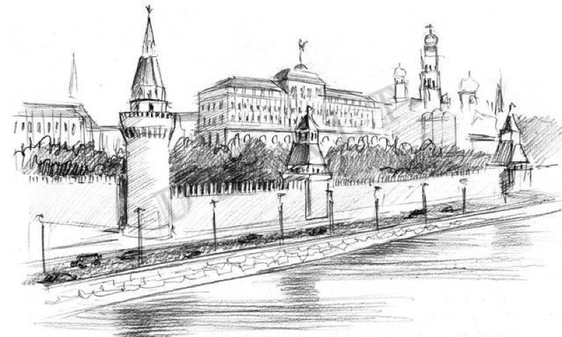 Графические рисунки кремля