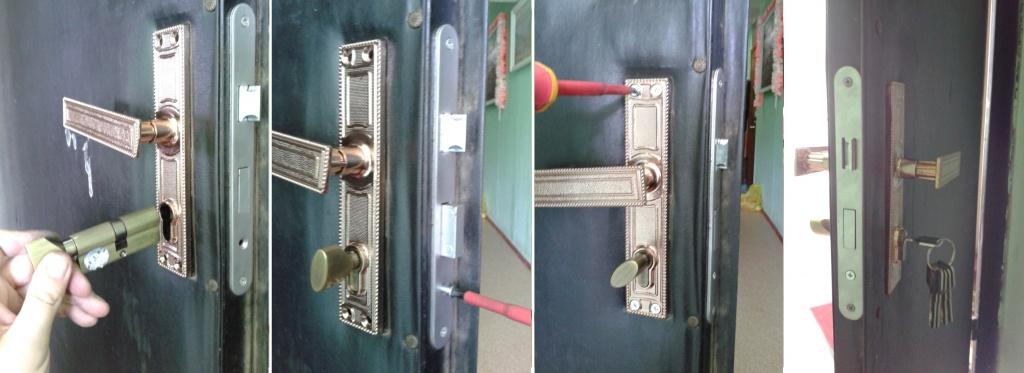 Замена личинки замка cisa входной двери
